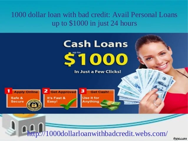 1000 dollar loan for bad credit: Get up to $1000 instantly