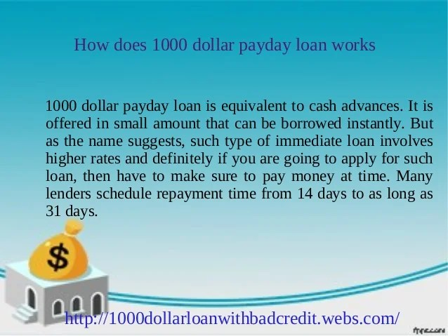 1000 dollar loan for bad credit: Get up to $1000 instantly
