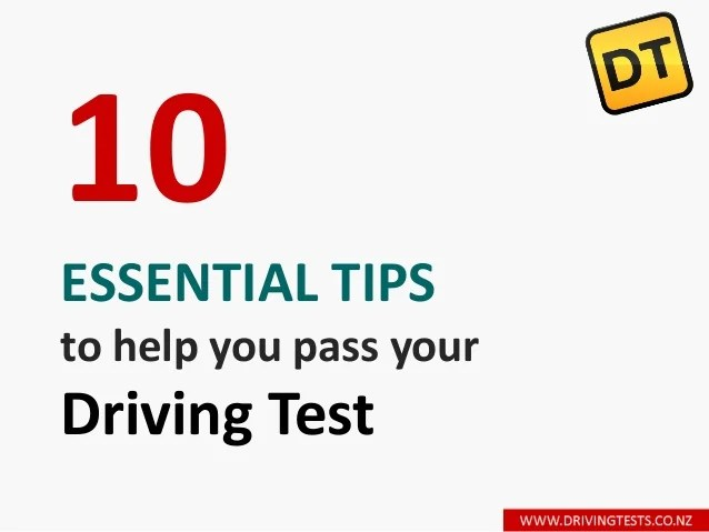 10 essential tips to help you pass your driving test