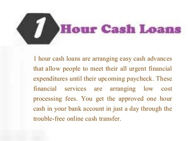 1 Hour Cash Loans- Easy Financial Help without Credit Check And Faxi…