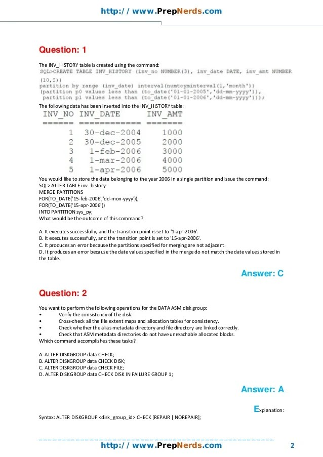 1Z0-053 Exam Questions Updated November 2014