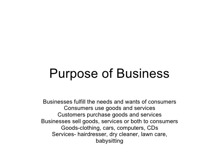 1.01 Purpose and Functions of Business