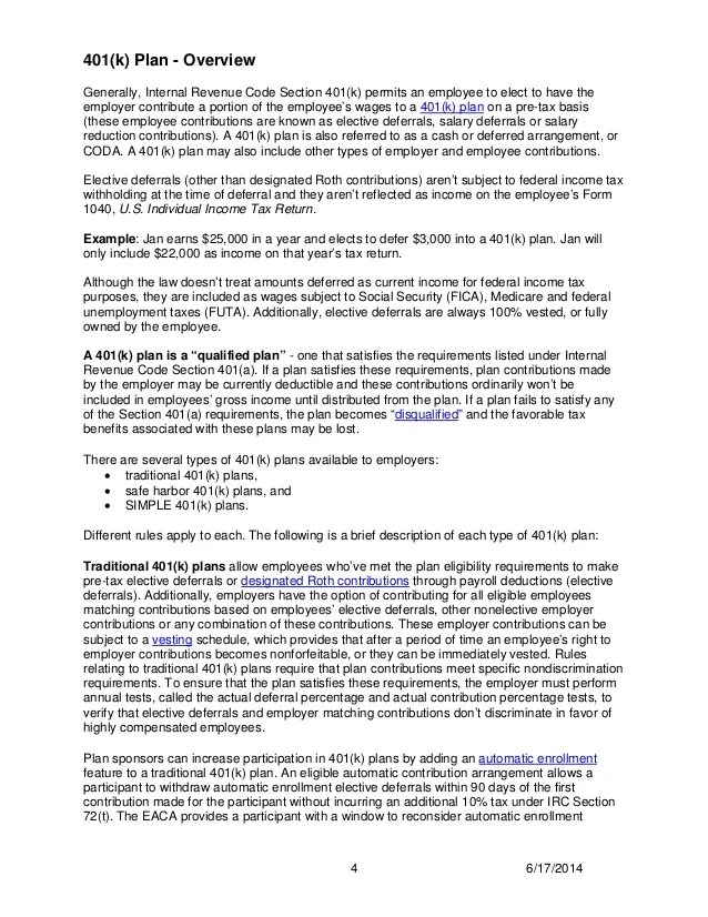 401k Mistakes   IRS Updated 401k Fix-It Guide