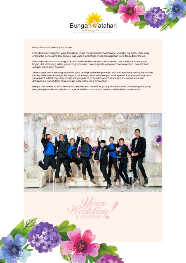 Wedding Organizer Jogja, BUNGA MATAHARI, WA 08222.5988.908 ...