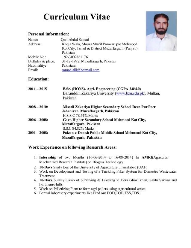 samad CV Detail