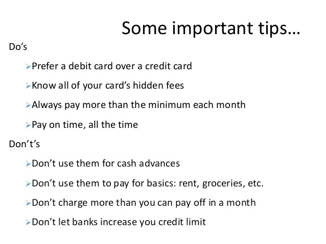 7.credit card and debit card working and management