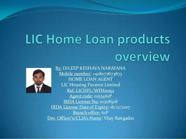 LIC Home loan products overview