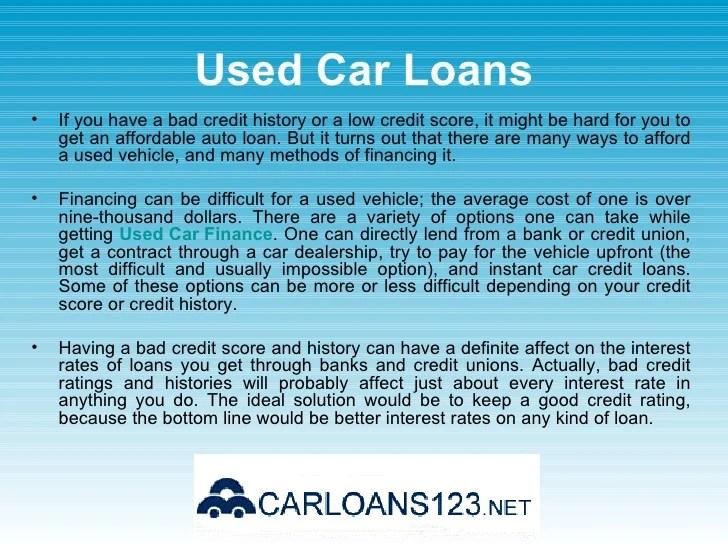 Bad Credit Car Loans - Low Interest Rate Car Loans