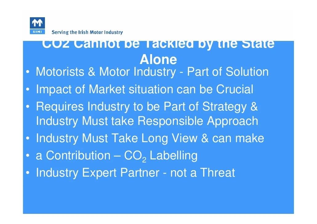 Alan Nolan - SIMI - Irish Motor Industry Perspective