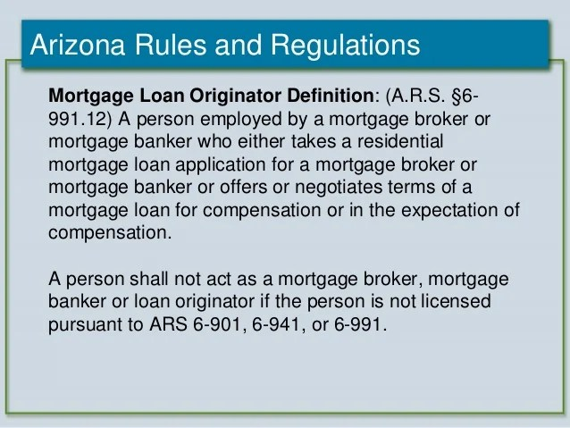 2012 Arizona Mortgage Lending Internet Advertising Compliance