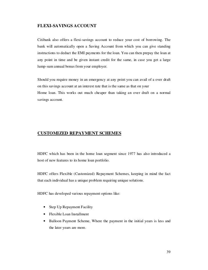 STUDY OF THE PROCEDURE OF DISBURSEMENT OF HOME LOAN OF HDFC BANK IN P…