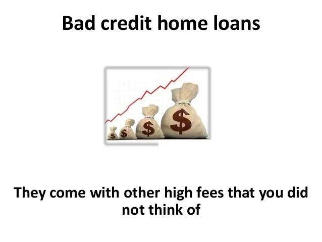 Bad credit home loans and Credit Repair