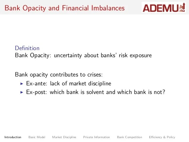 Bank Opacity and Financial Crisis