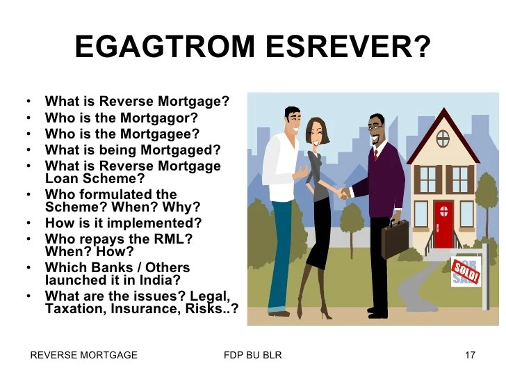 Reverse Mortgage in India