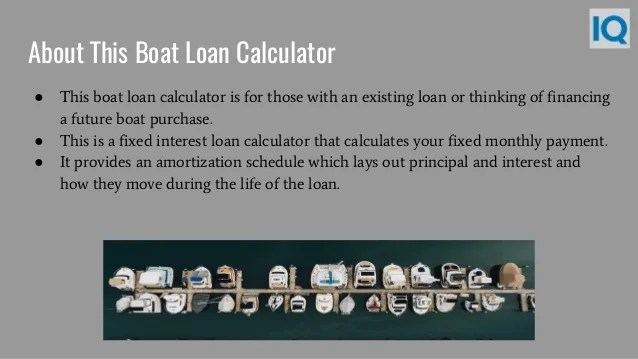 Boat Loan Calculator | Boat Loan Payment Calculator
