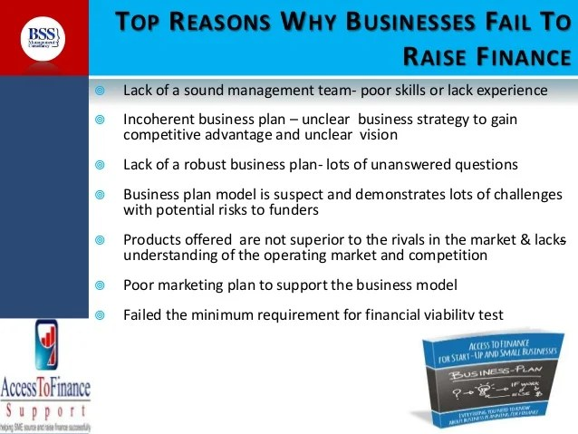 Why business plan fail