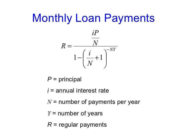 Calculate Monthly Loan Payments