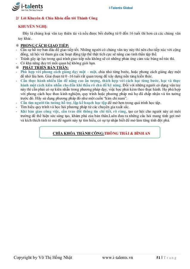 Cam nang Sinh Trắc Dấu Vân Tay (P1)