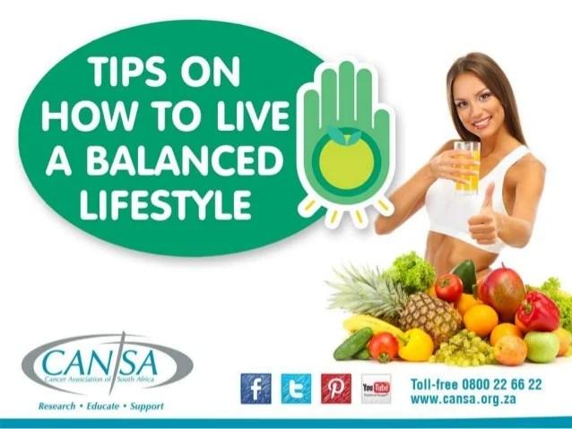 CANSA Balanced lifestyle 2015 English