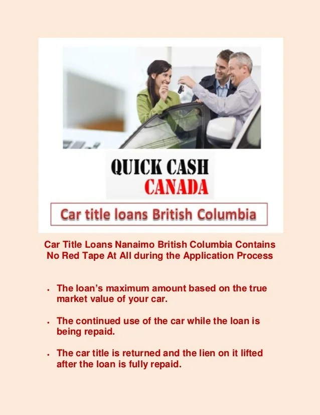 Car title loans british columbia