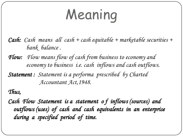 cash flow statement