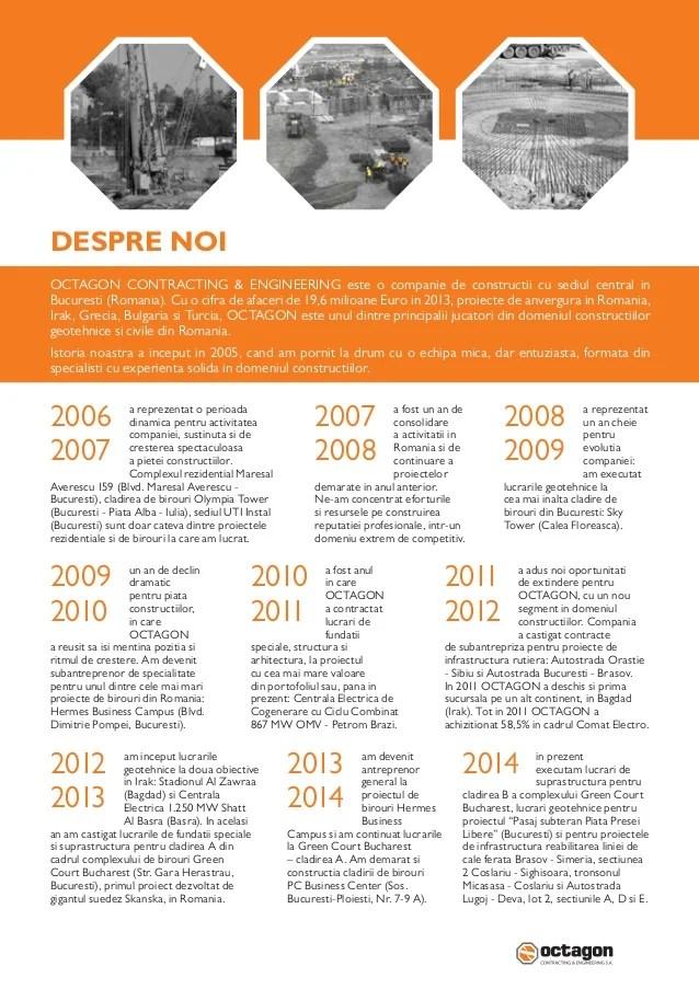 Octagon Contracting & Engineering Catalog Lucrari geotehnice 2014