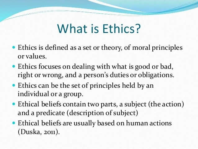 Week 1 Ethical Behavior and Theory in Accounting