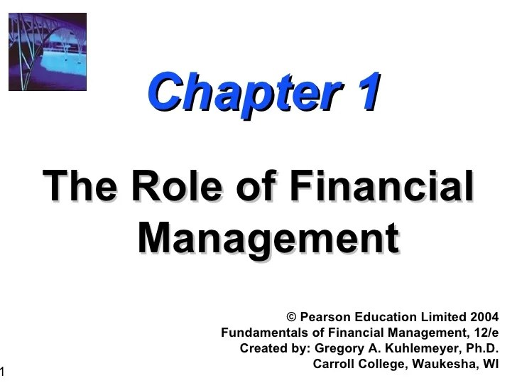 Chapter 1 - the role of financial management