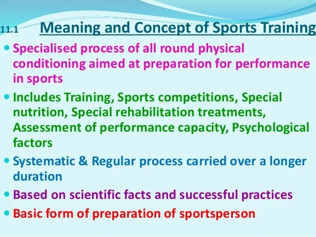 Chapter 11:Training in Sports