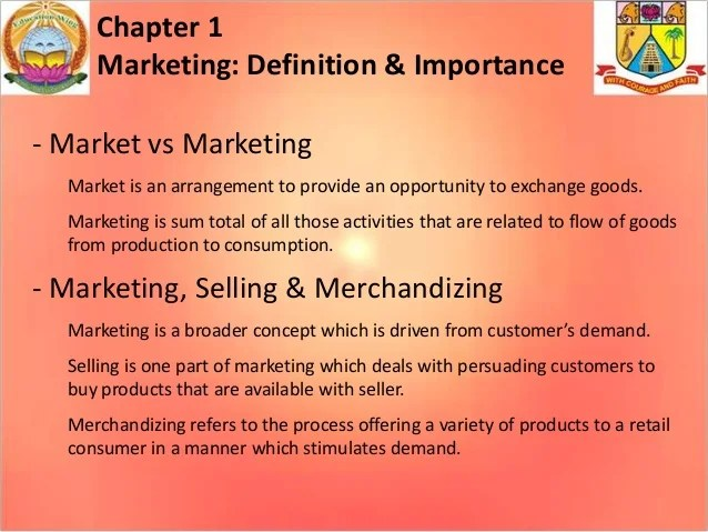 Marketing - Definition & Importance, Concepts & Marketing Management