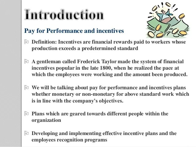Chapter 12 pay for performance and financial incentives final
