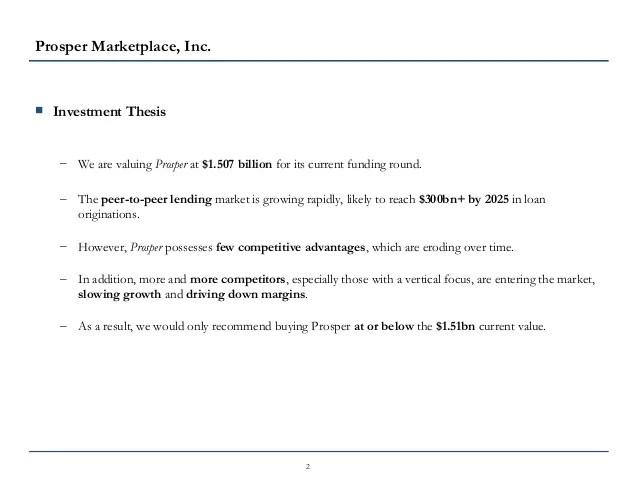 P2P Lending: Prosper