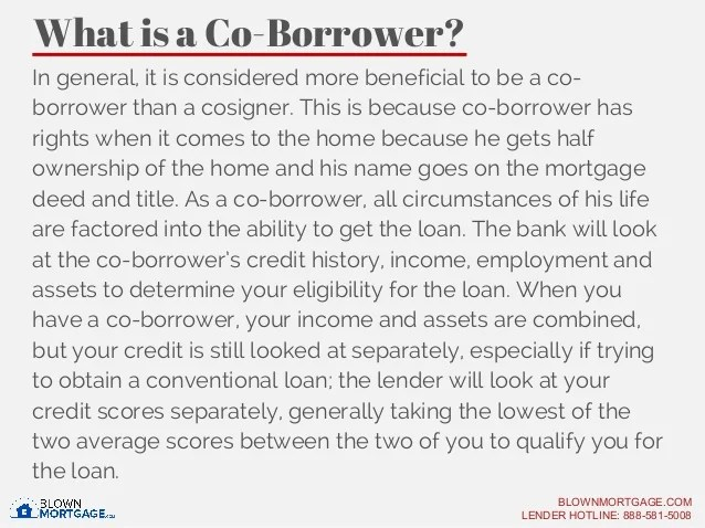 Co Borrower and Co-Signer- What's the Difference?-