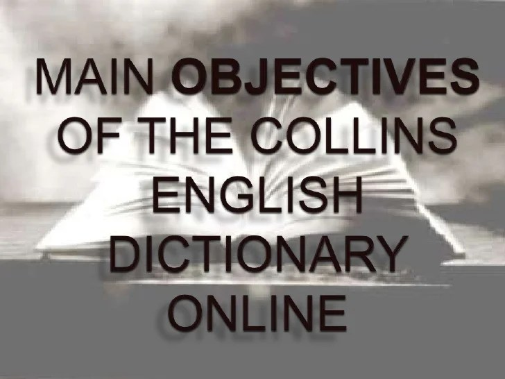 Collins English Dictionary Online