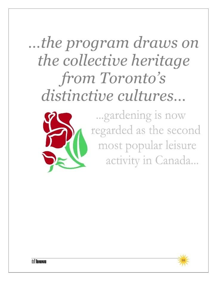 Community Gardens Program Toolkit - Toronto Parks
