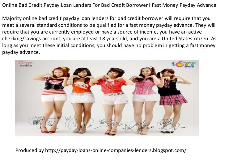 Compare top best online payday loans for bad credit borrower