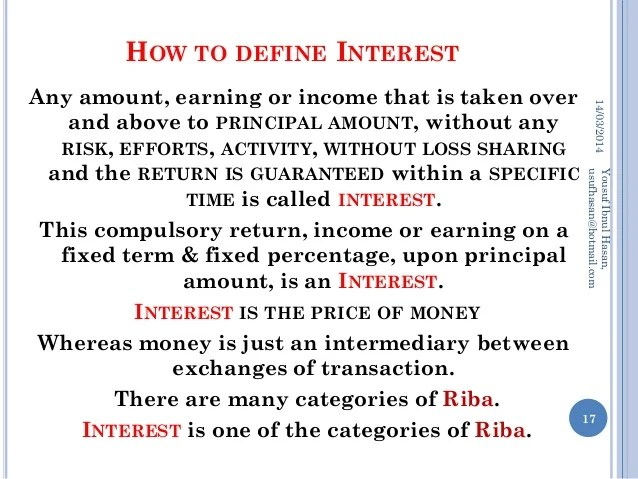 Concept of RIBA, Interest & Profit in Islamic Economics System