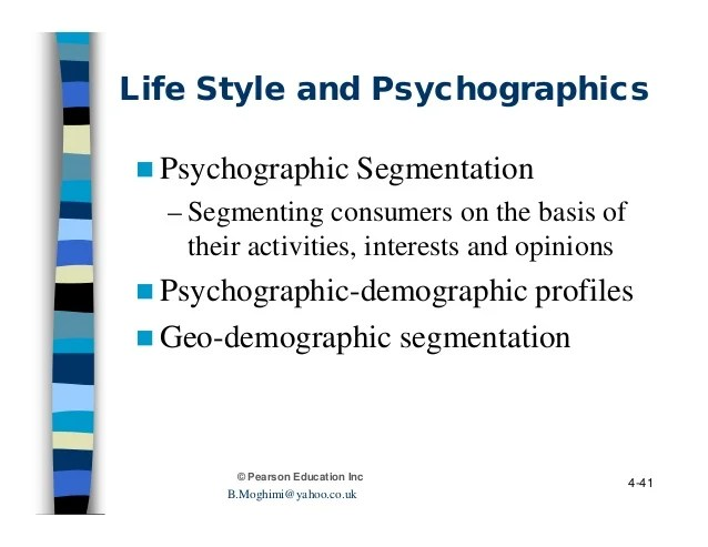 Consumer behavior ch4 personality, self image, and life ...