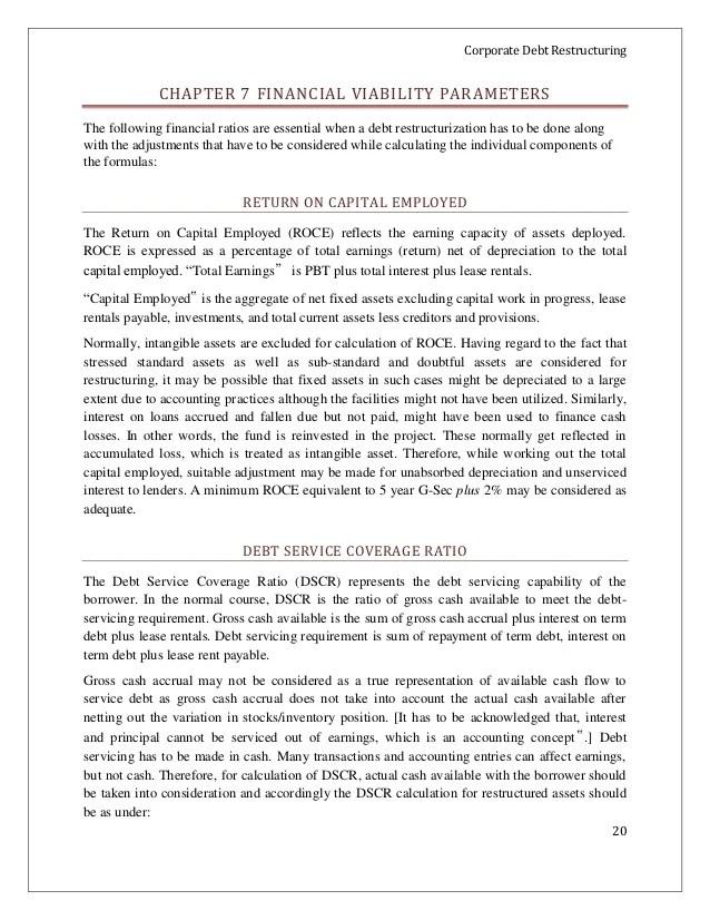 Corporate debt-restructuring