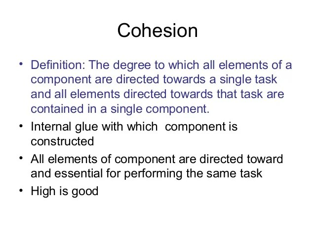 Couplingand cohesion student