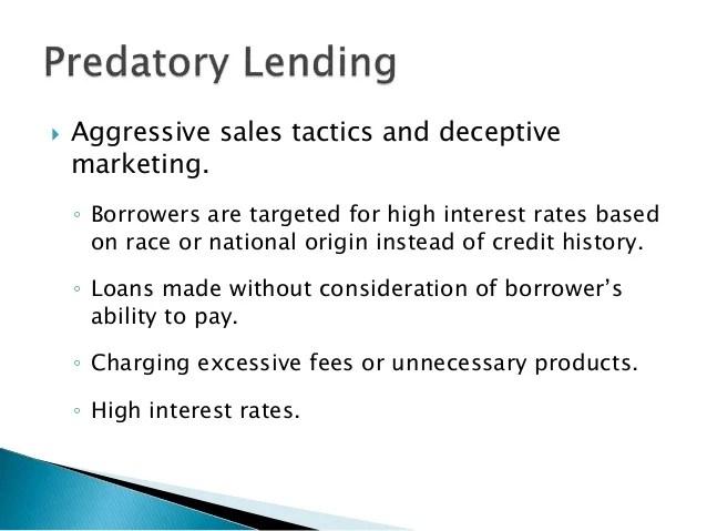 Predatory Lending and Debt Traps