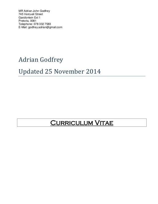 Curriculum Vitae -Adrian Updated Nov