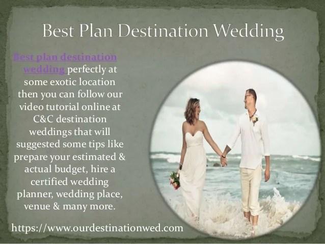 Destination wedding planner online