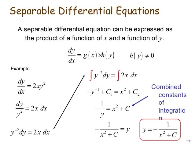 Differential equations