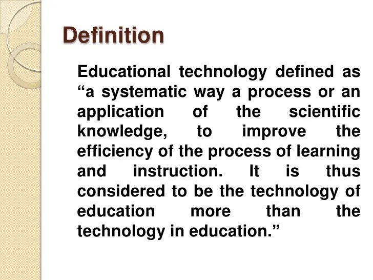 Educational technology and its application by anand