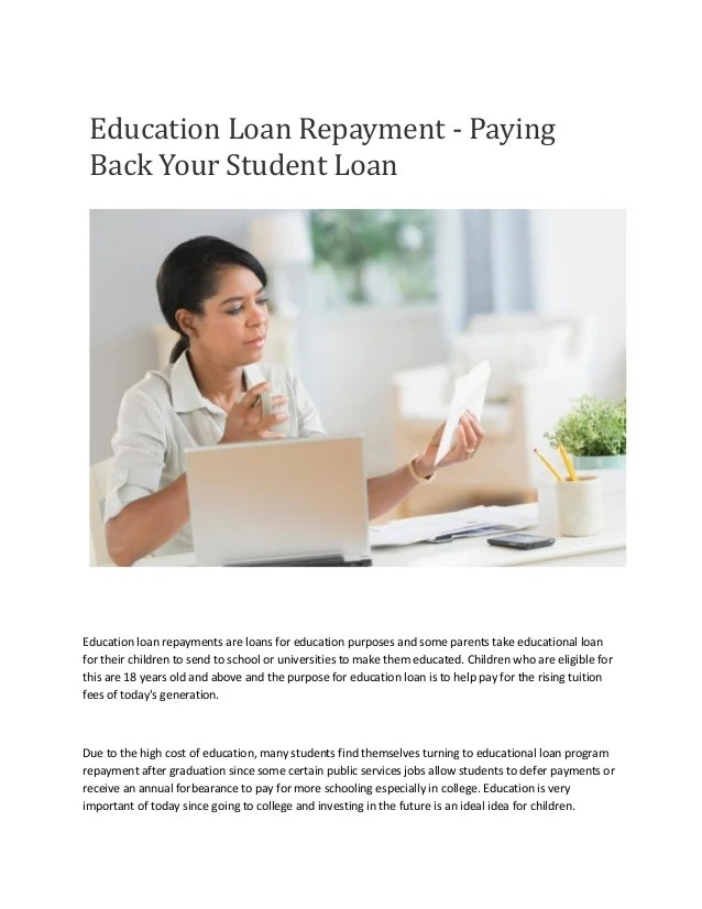 Study Loan In India : Education Loan Repayment - Paying Back Your Stu…