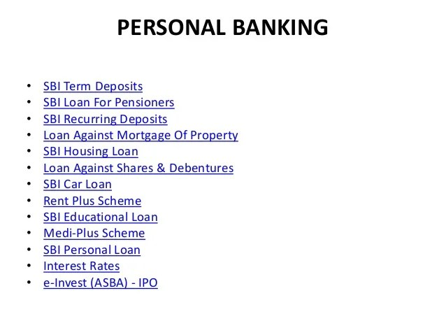 SBI PRODUCT & SERVICES