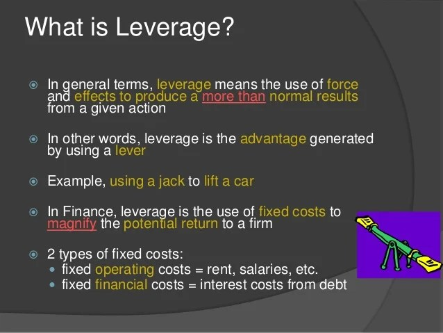Financial leverage