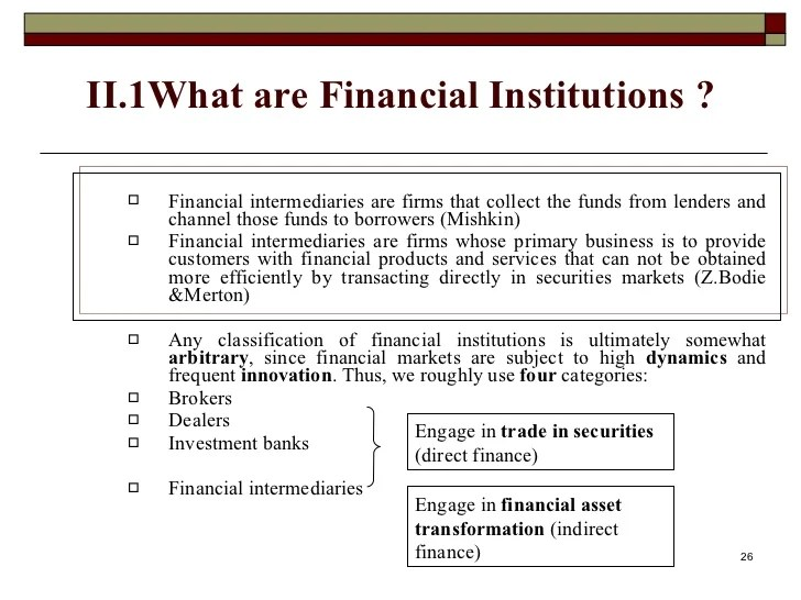 Financial market and institutions