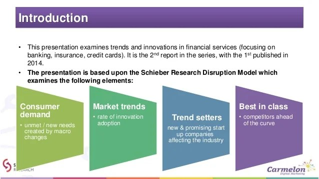 Financial Services Digital Disruption – Trends & Innovations